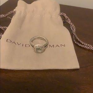 David Yurman Petite Albion Prasiolite Ring- Size 6
